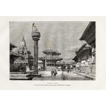 Temples a Patan - Reclus (1883)