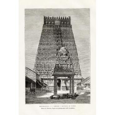 Khoumbakonam - Gopoura, principal du temple - Reclus (1883)