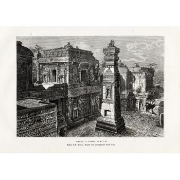 Ellora - Temple de Kailas - Reclus (1883)