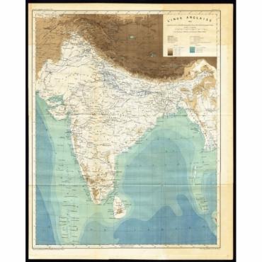 L'Inde Anglaise 1882 - d'apres le texte de la Nouvelle Geographie (..) - Reclus (1883)