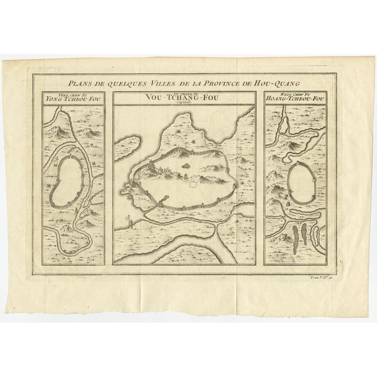 Plans de quelques villes de la province de Hou-Quang - Bellin (1755)