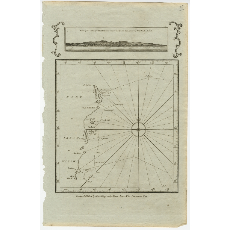 View of the Coast of Japan when we first saw it - Bowen (c.1785)