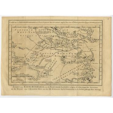 Carte de la Petite Bukharie et Pays Voisins - Bellin (1749)