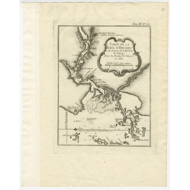 Carte de la Baye d'Hocsieu (..) - Bellin (1764)