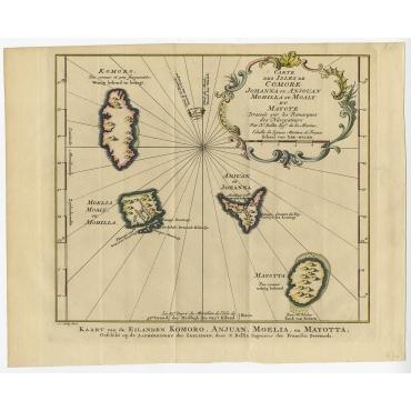 Carte des Isles de Comore (..) - Bellin (1760)