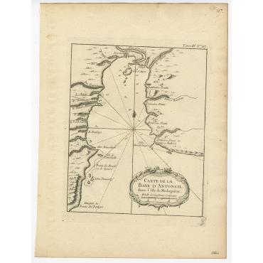 Carte de la Baye d'Antongil dans l'Isle de Madagascar - Bellin (1764)