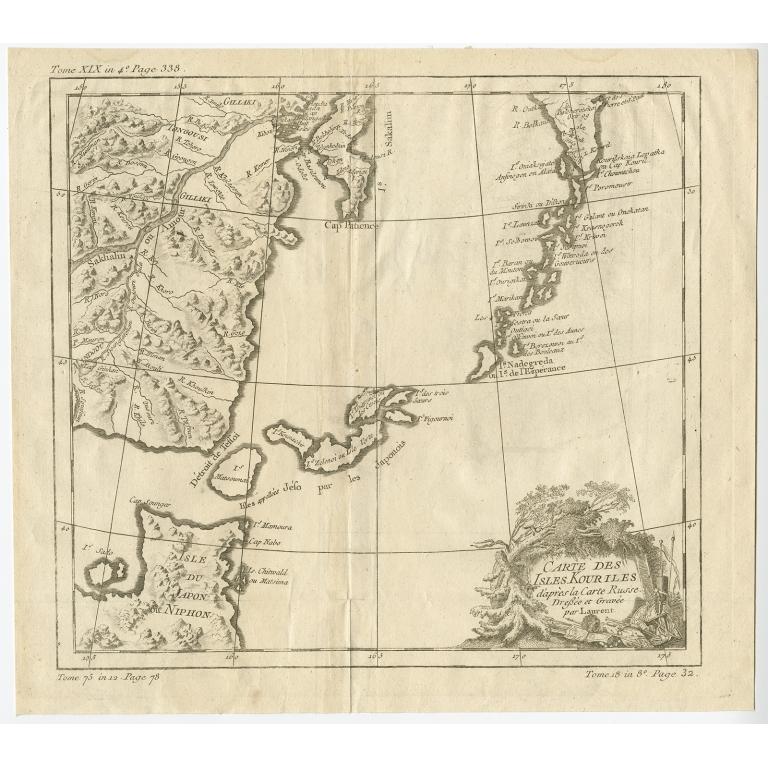 Carte des Isles Kouriles (..) - Bellin (c.1750)