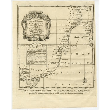 Carte de la Coste Orientale d'Afrique (..) - Bellin (1740)