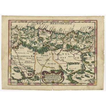 Partie du Barbarie ou est le Royaume d'Alger - Sanson (1657)