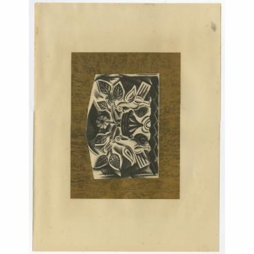 Untitled Print 'Die Tauben' - Altmann (1923)