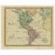 Antique Map of America by Veelwaard (1841)
