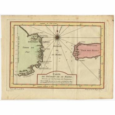 Carte du Detroit de le Maire (..) - Bellin (c.1753)