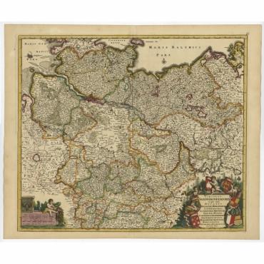 Circulus Saxoniae Inferioris (..) - De Wit (c.1680)