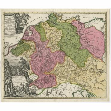 Hydrographia Germaniae qua Geographiae Naturalis (..) - Homann (c.1720)