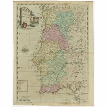 Bowles's New Pocket Map of Portugal (..) - Bowles (c.1780)