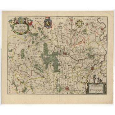 Secunda Pars Brabantiae cuiuc urbs primaria Bruxellae - Blaeu (c.1635)