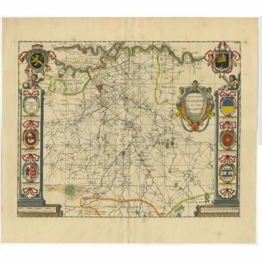Quarta pars Brabantiae (..) - Blaeu (c.1640)