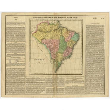 Geographical, Statistical and Historical Map of Brazil - Young & Delleker (1823)