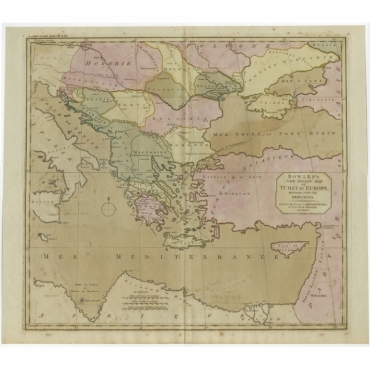 Bowles's new pocket map of Turky in Europe (..) - Bowles (c.1780)