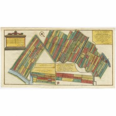 Kaart der landeryen (..) Amsterdam - Anonymous (c.1767)