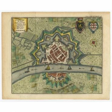Grondtekening der Stad Graave - Tirion (c.1750)