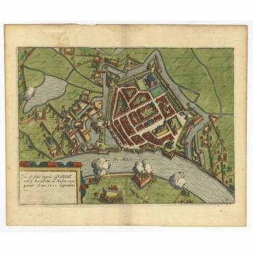Hic est situs oppidi Grauiae (..) - Guicciardini (c.1608)