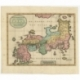 Antique Map of Japan by Tirion (c.1730)