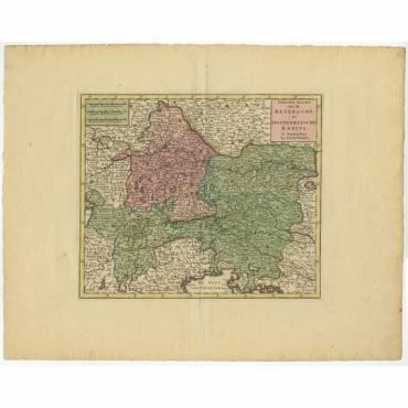 Nieuwe Kaart van de Beyersche en Oostenryksche Kreits (..) - Tirion (c.1740)