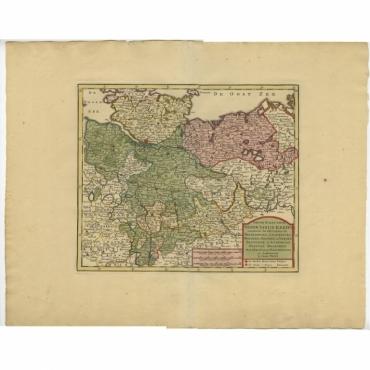 Nieuwe Kaart van de Neder Saxise Kreits (..) - Tirion (c.1740)