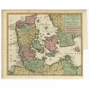 Nieuwe Kaart van het Koninkryk van Deenemarken (..) - Tirion (c.1750)