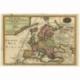 Antique Map of Europe by De Fer (1717)