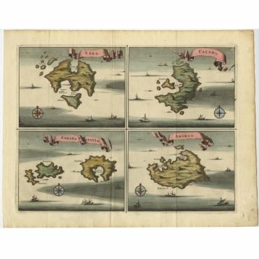 Lero, Calamo, Zanara e Levita, Amorgo - Dapper (1687)