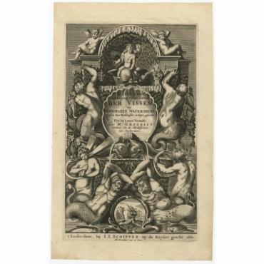 Dr. J. Jonstons Beschrijving van de Natuur der Vissen (..) - Merian (1660)