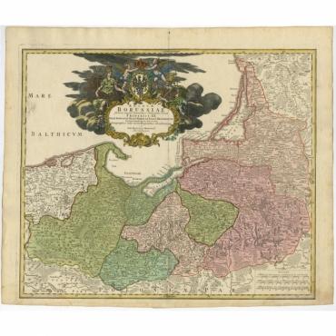 Regnum Borussiae gloriosis auspicijs Seerenissimi (..) - Homann (c.1730)