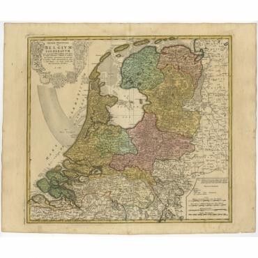 Septem Provinciae seu Belgium Foederatum quod generliter Hollandia (..) - Homann (c.1748)