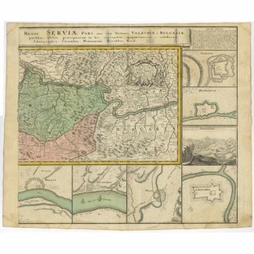 Regni Serviae (..) & Regnum Bosniae (..) - Homann Heirs (c.1740)