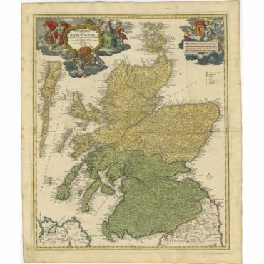 Magnae Britaniae pars septentrionalis qua Regnum Scotiae (..) - Homann Heirs (c.1750)