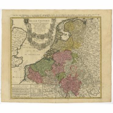 Belgii Universi seu Inferioris Germaniae quam XVII Provinciae (…) - Homann (c.1748)