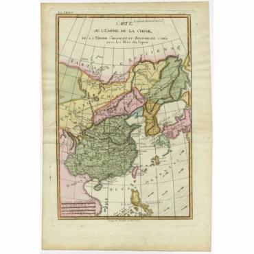 Carte de L'Empire de la Chine - Bonne (1780)