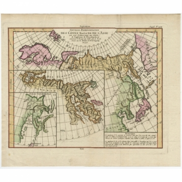 Nouvelle representation des Cotes Nord et Est de L'Asie - Vaugondy (c.1750)