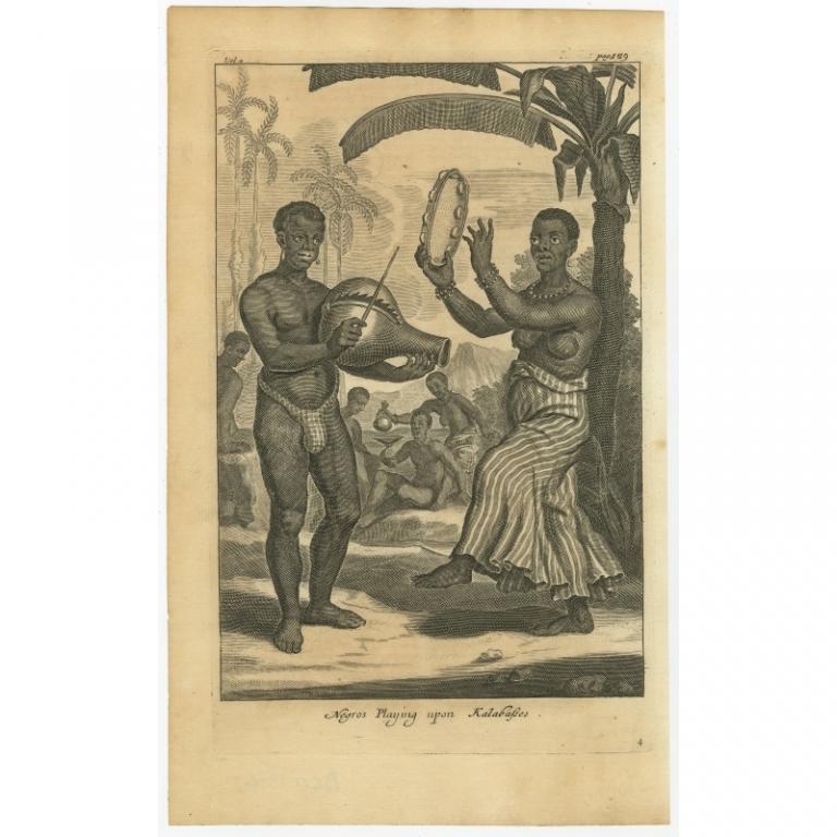Negros playing upon kalabasses - Nieuhof (1744)