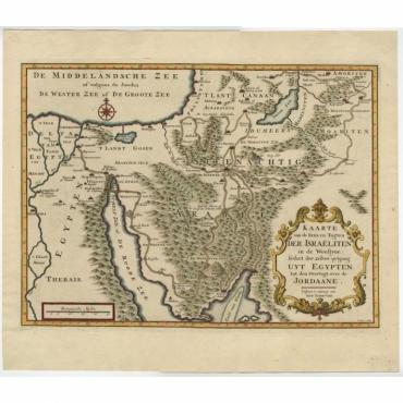 Kaarte van de Reize en Togten der Israeliten (..) - Keizer (1725)