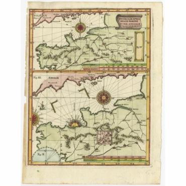 Hydrographia Canalis Marini Inter Angliam (..) - Scherer (c.1700)