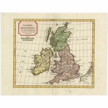Les Isles Britanniques - Delamarche (1806)