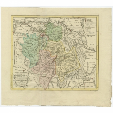 Nieuwe Kaart der Meierij van s Hertogenbosch (..) - Van Baarsel (1803)