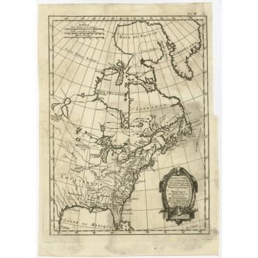Partie du Nord de l'Amerique Septentrionale (..) - Bonne (c.1780)