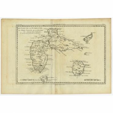 Les Isles de la Guadeloupe (..) - Bonne (c.1780)