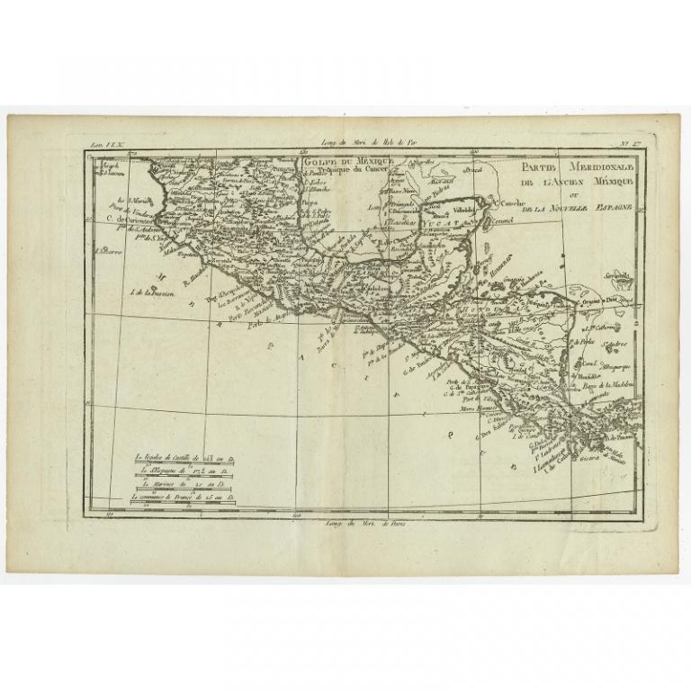 Partie Meridionale, de L'Ancien Mexique (..) - Bonne (c.1780)