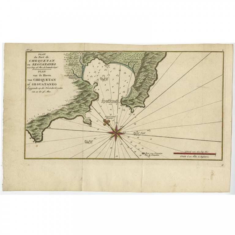 Plan du Port de Chequetan (..) - Anson (c.1750)