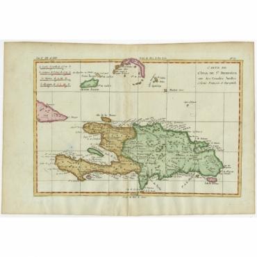 Carte de l'Isle de St. Domingue, une des Grandes Antilles (..) - Bonne (c.1775)